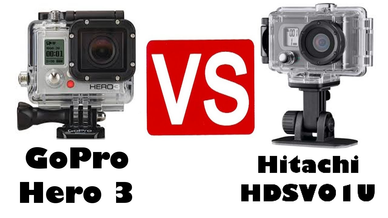 gopro hero 3 white vs hitachi hdsv01u youtube. Black Bedroom Furniture Sets. Home Design Ideas