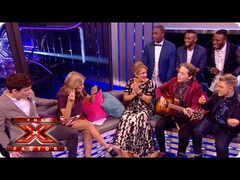 The contestants have an impromptu jamming session - Live Week 9 - The Xtra Factor UK 2013