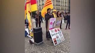 Cờ Vàng rợp bóng tung bay ở Berlin-Đức, phản đối đặc vụ bắt cóc Trịnh Xuân Thanh
