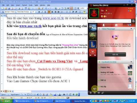 Hướng dẫn chơi Aoe online