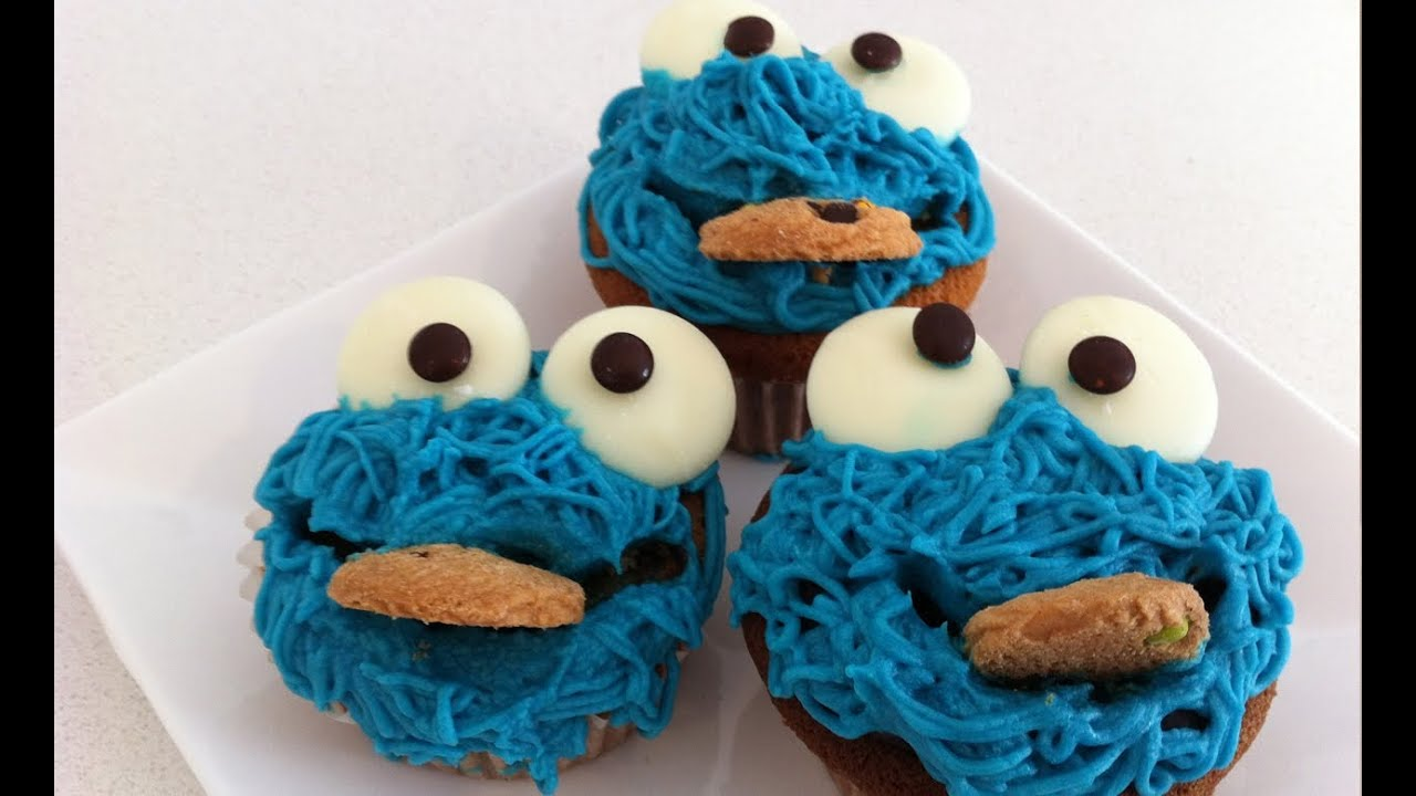 How to decorate cookie monster cupcakes tutorial how to cook that ann ...