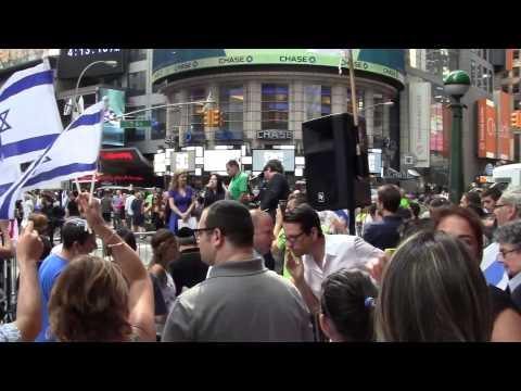 Pro Israel Peace Rally NYC Times Square 07/20/2014 - Hamas Palestine War