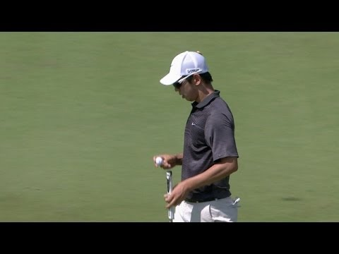 Seung-Yul Noh sticks his second shot close at Zurich
