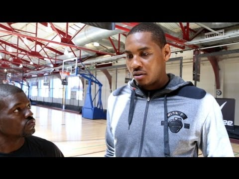 Carmelo Anthony Talks Training on Fan Friday! - JRSportBrief from Lake Tahoe!