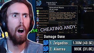 Asmongold Exposes Cheaters In Mage Damage Contest!
