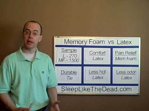 Memory Foam vs Latex Mattress Beds pare strengths and