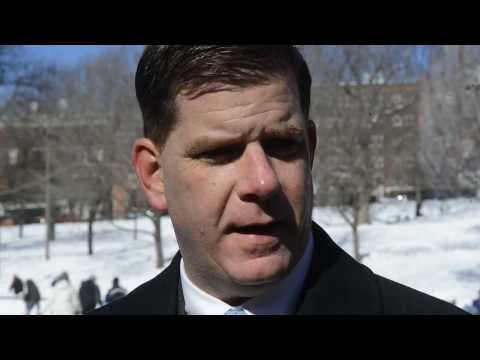 Boston mayor Marty Walsh says Boston salt supplies in good shape for season.