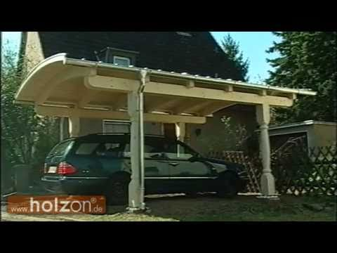 carport selber bauen carportaufbau eines exklusiven bogendach carports von holzon youtube. Black Bedroom Furniture Sets. Home Design Ideas