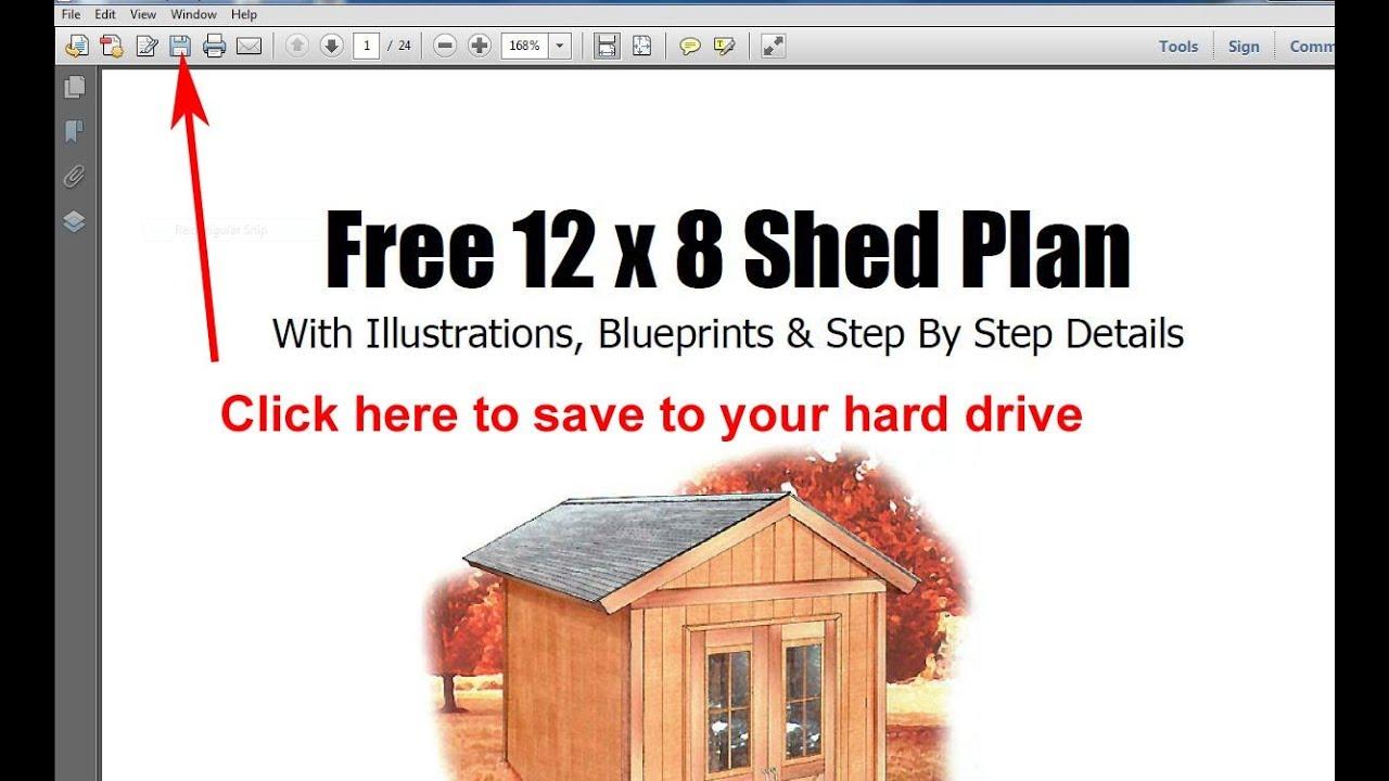 Storage shed plans free 8x12