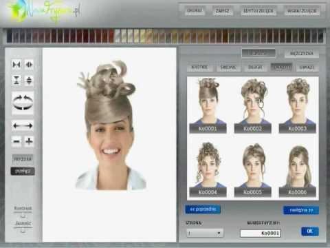 NowaFryzura-PL - wirtualny fryzjer, modne fryzury, komputerowy dobór fryzur