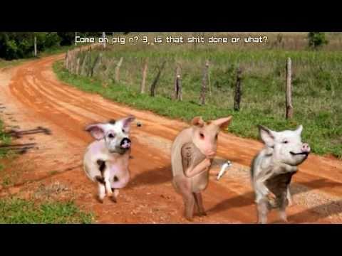 Os Três Porquinhos e o Lobo Mau. Versão Ganza e Asneirenta