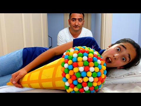 Esma and Asya Johny Johny Yes Papa İce Cream Pretend Play fun kid video