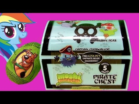 moshi monsters pirate chest with captain codswallop pirates scooby doo kinder surprise huevo. Black Bedroom Furniture Sets. Home Design Ideas