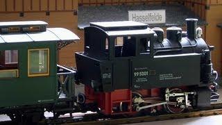 Harzbahn, Brockenbahn und Selketalbahn als Spur G Modelleisenbahn in der Modellbahn Wiehe