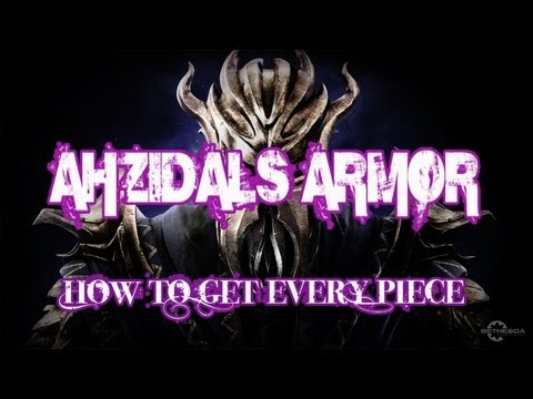 Skyrim: DragonBorn Ahzidal's Armor - How to get every piece