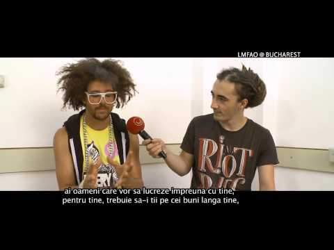 Interview Redfoo LMFAO in Romania @Utv 2012