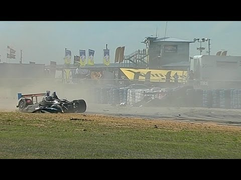 Kearby and Tagliani Huge Crash @ 2014 Sebring 12 Hours