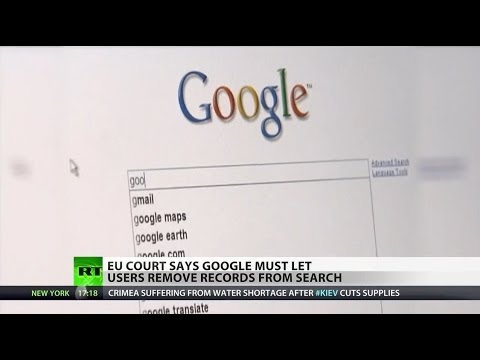 EU to Google: Remove personal information from search results