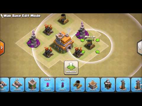 TH7 War base without barbarian king 2017