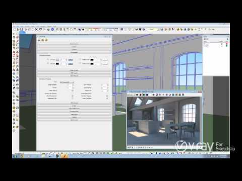 V-Ray for SketchUp - Daylight Set Up (interior scene) - tutorial