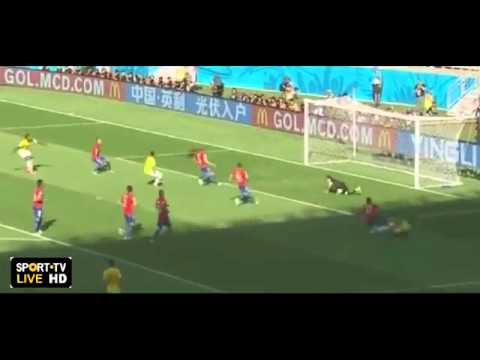 MATCH HIGHLIGHTS  Brazil Vs Chile 16 Besar Piala Dunia 2014 1 1 PENALTY 3 2