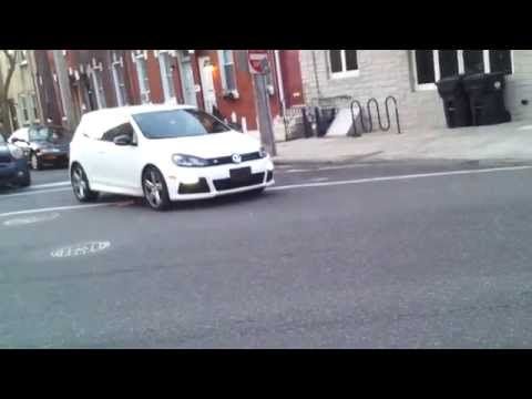 Accelerating Volkswagen Golf R 20140409 064414