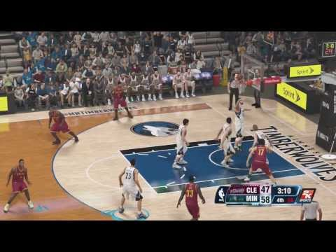 NBA 2K14: (PS4) Timberwolves vs Cavs Gameplay - 4th Quarter