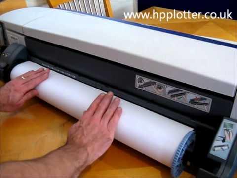 Designjet 120NR/130NR - Load paper/media roll on your printer