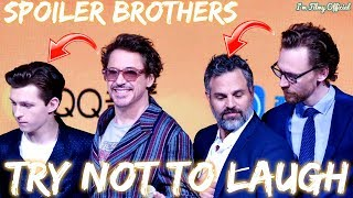 Avengers: Infinity War Cast Continuously Roasts Spoiler Brothers - Tom Holland & Mark Ruffalo