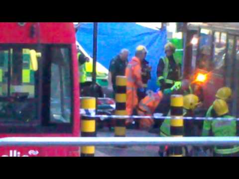 London vauxhall bus crush a woman