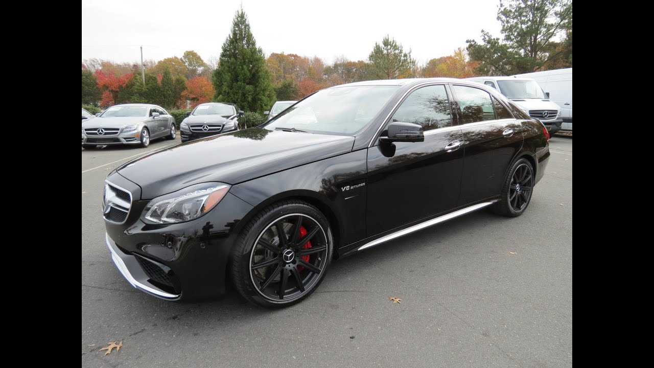 2014 Mercedes-Benz E63 AMG S 4Matic Start Up, Exhaust, Drive, and In