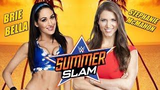 WWE SummerSlam 2014 Brie Bella Vs Stephanie McMahon