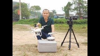 Mở hộp máy bay DJI Phantom 4 Flycam Plus Giá rẻ cho người mới tập chơi THẾ GIỚI FLYCAM