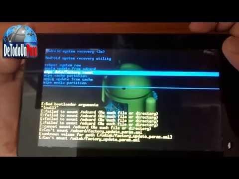 Como Formatear Tablet Sistema Android a estado de Fabrica 2016