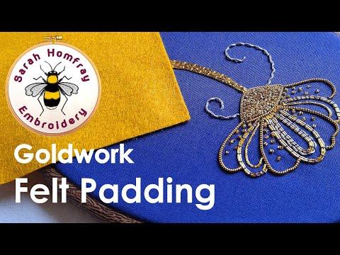 Goldwork embroidery tutorial. Part 1 - intro & felt padding