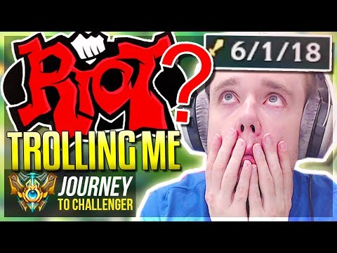RIOT IS ACTUALLY TROLLING ME WTF!!! - Journey To Challenger | League of Legends
