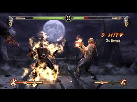 (HD) Mortal Kombat 9 Arcade Ladder Playthrough - Scorpion - Expert Level