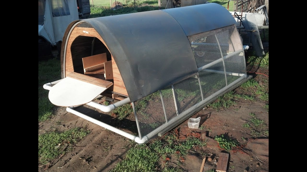 Build Pvc Chicken Tractor : Bertia lanhe how to make a chicken coop youtube