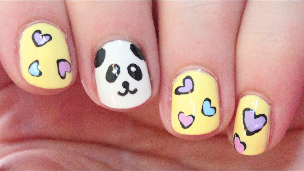 Panda Nail Design Easy : Panda nail art totallycoolnails