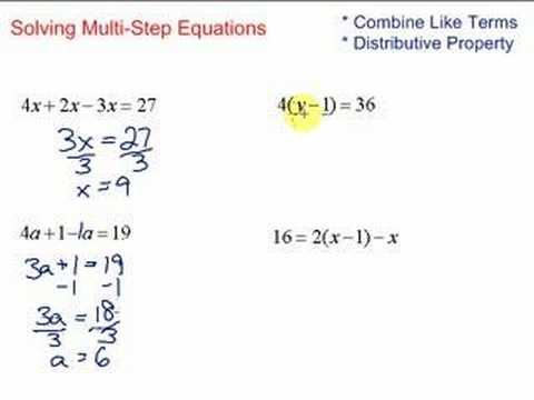lesson 7 2 solving multi step equations youtube. Black Bedroom Furniture Sets. Home Design Ideas