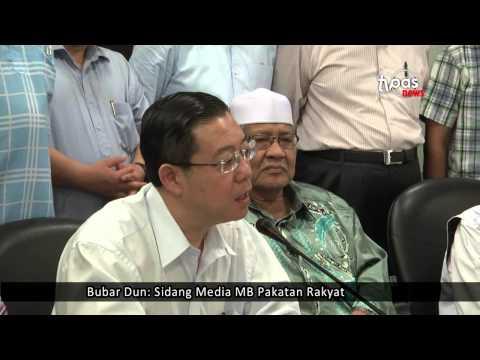 Bubar Dun: Sidang Media MB Pakatan Rakyat