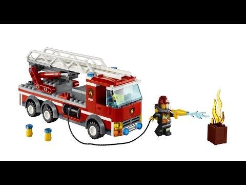 Chơi Lego City 2 Lái xe cứu hỏa xịt nước chữa cháy thành phố cu lỳ chơi game lego my city lồng tiếng