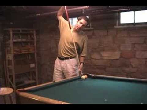 Masse-draw carom trick shot from the billiards movie
