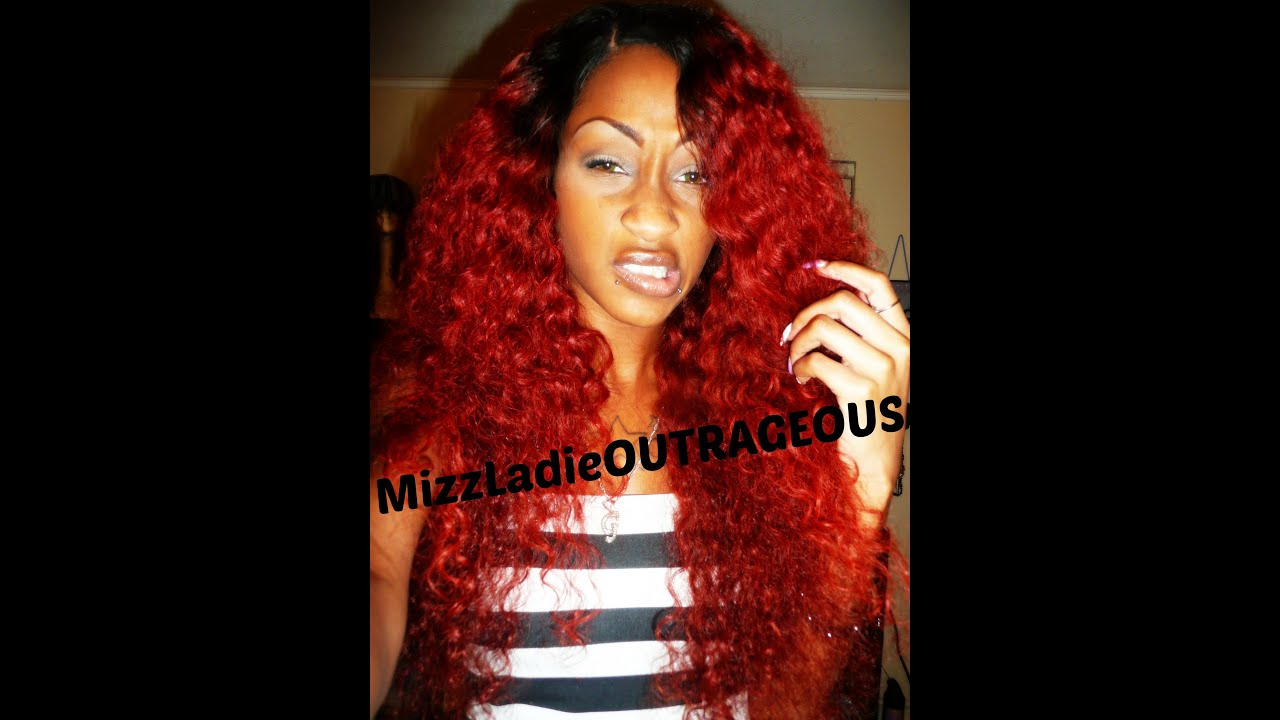 K Michelle Red Hair Bun K michelle hai