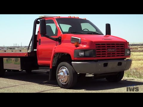 2003 GMC C5500 Top Kick with 21 ft. Vulcan 10-Series Steel Car Carrier from IWS