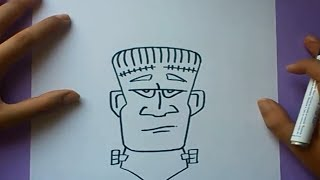 Como Dibujar A Frankenstein Paso A Paso How To Draw