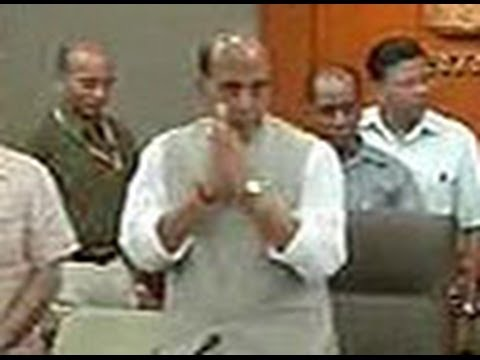 Home Minister Rajnath Singh talks tough