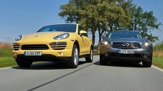 Infiniti FX vs. Porsche Cayenne - Angriff aus dem Nichts videos