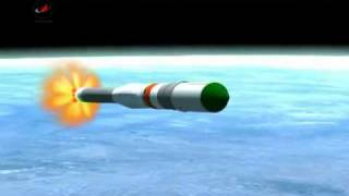 Animation of Soyuz rocket launch.