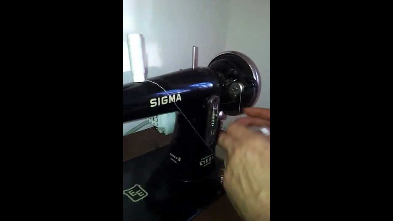 Enhebrar máquina de coser,canilla Sigma modelo B especial